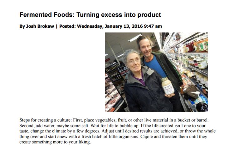 Fermented Foods: Turning Excess Into Product/Ithaca Times